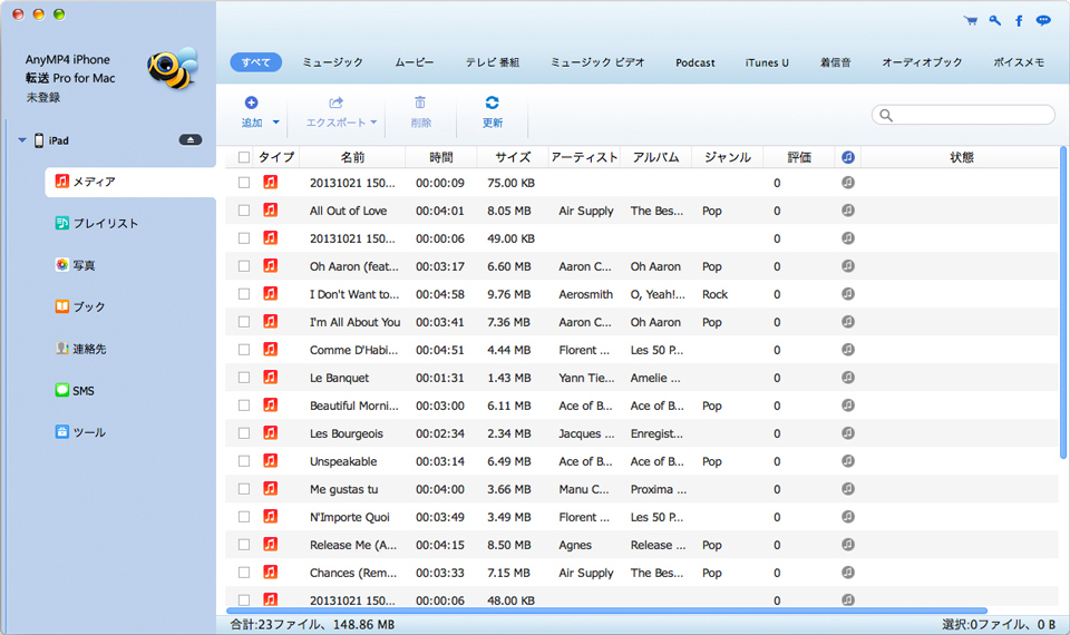 AnyMP4 iPhone 転送 Pro for Mac